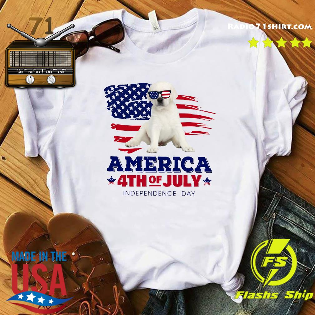 White Labrador America 4th Of July Independence Day Shirt