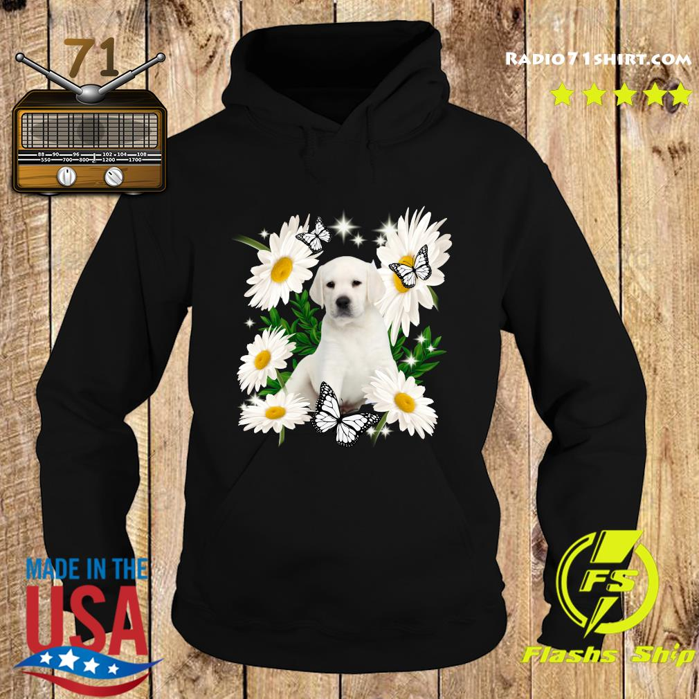 White Labrador Daisy flower Classic T-Shirt Hoodie