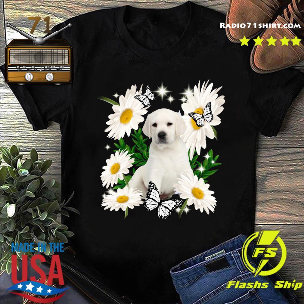 White Labrador Daisy flower Classic T-Shirt