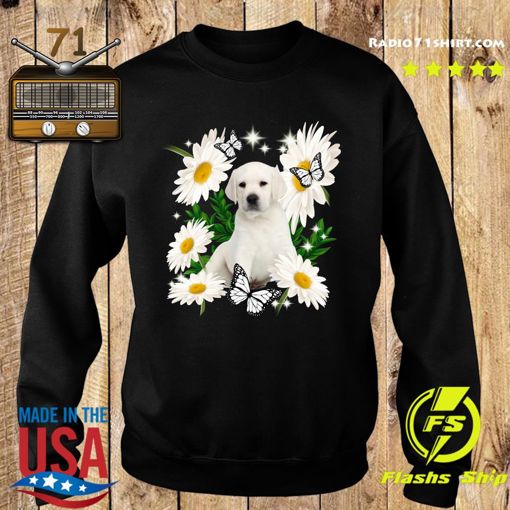 White Labrador Daisy flower Classic T-Shirt Sweater