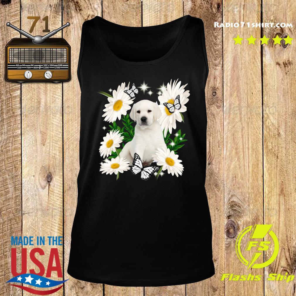 White Labrador Daisy flower Classic T-Shirt Tank top