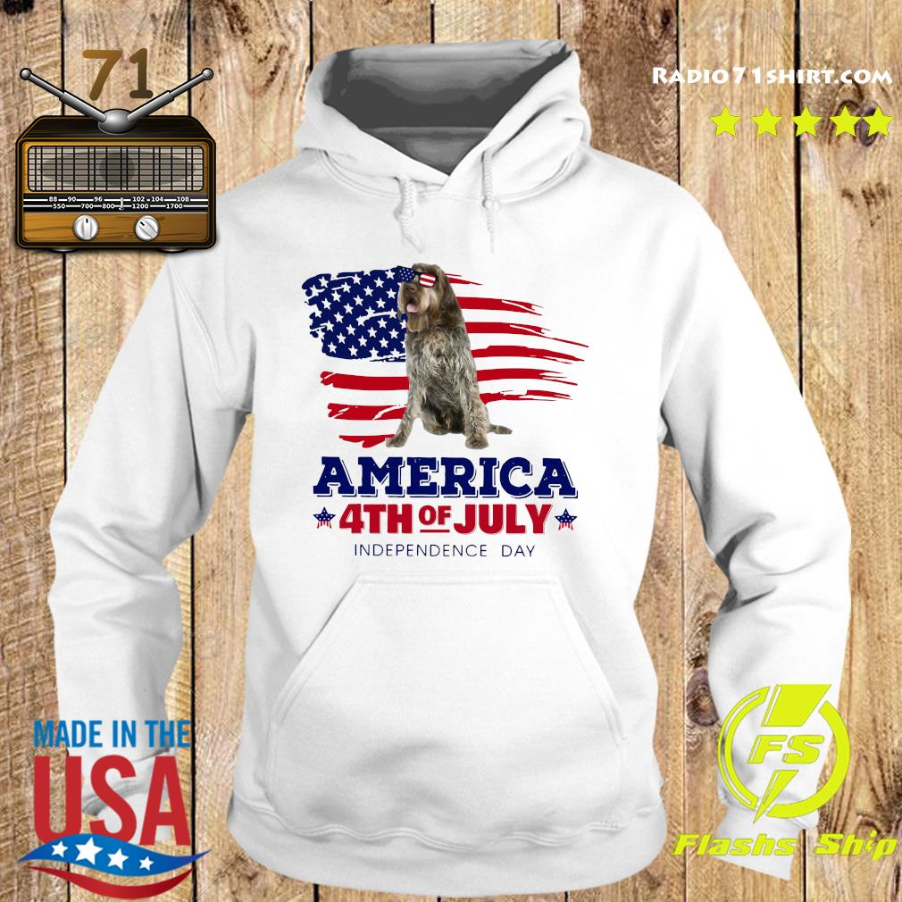 Wirehaired Pointing Griffon America 4th Of July Independence Day Shirt Hoodie