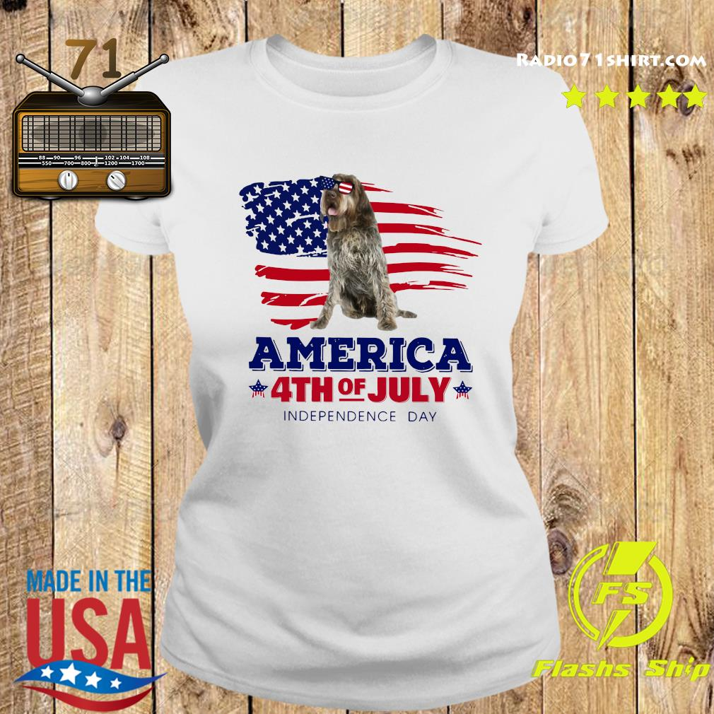 Wirehaired Pointing Griffon America 4th Of July Independence Day Shirt Ladies tee