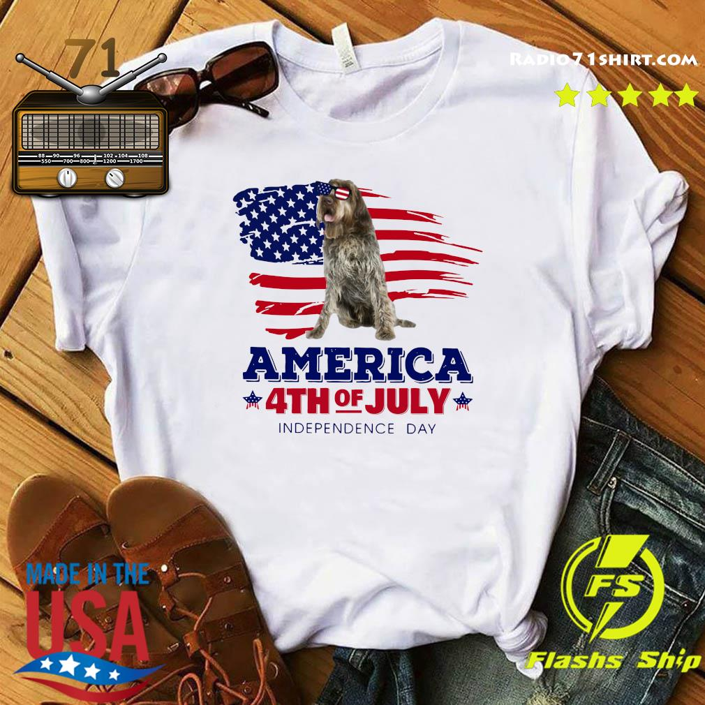 Wirehaired Pointing Griffon America 4th Of July Independence Day Shirt