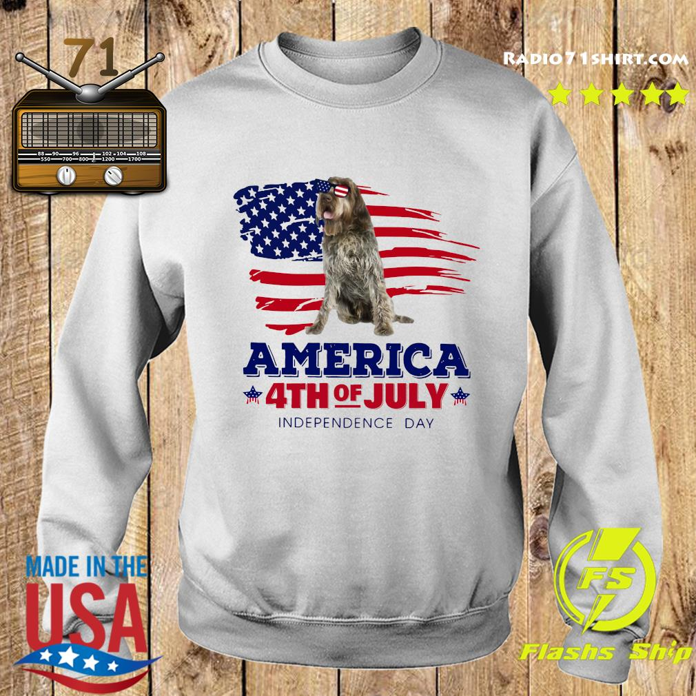 Wirehaired Pointing Griffon America 4th Of July Independence Day Shirt Sweater