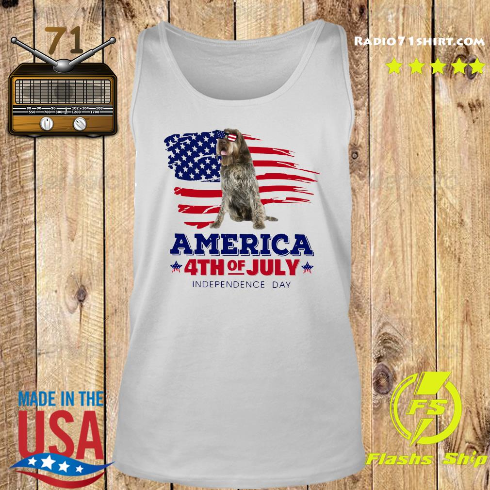Wirehaired Pointing Griffon America 4th Of July Independence Day Shirt Tank top