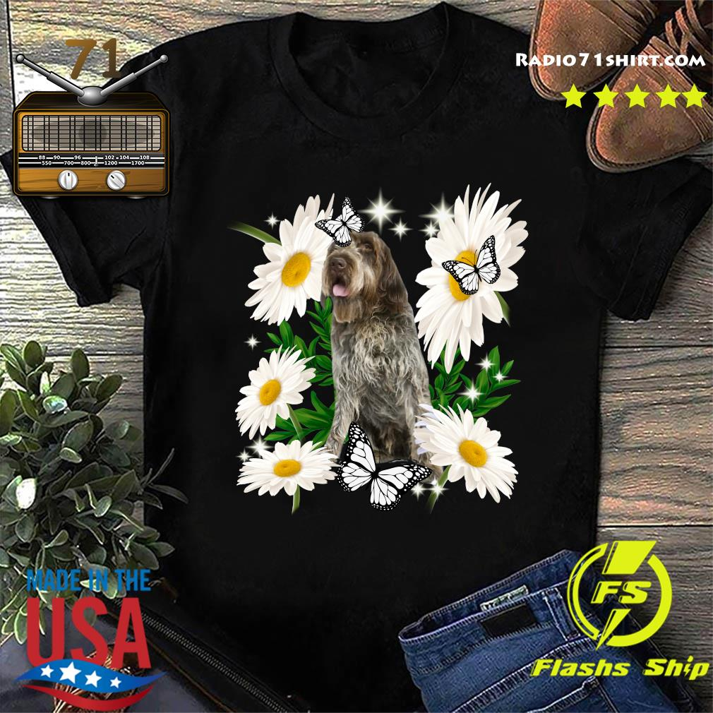 Wirehaired Pointing Griffon Daisy flower Classic T-Shirt