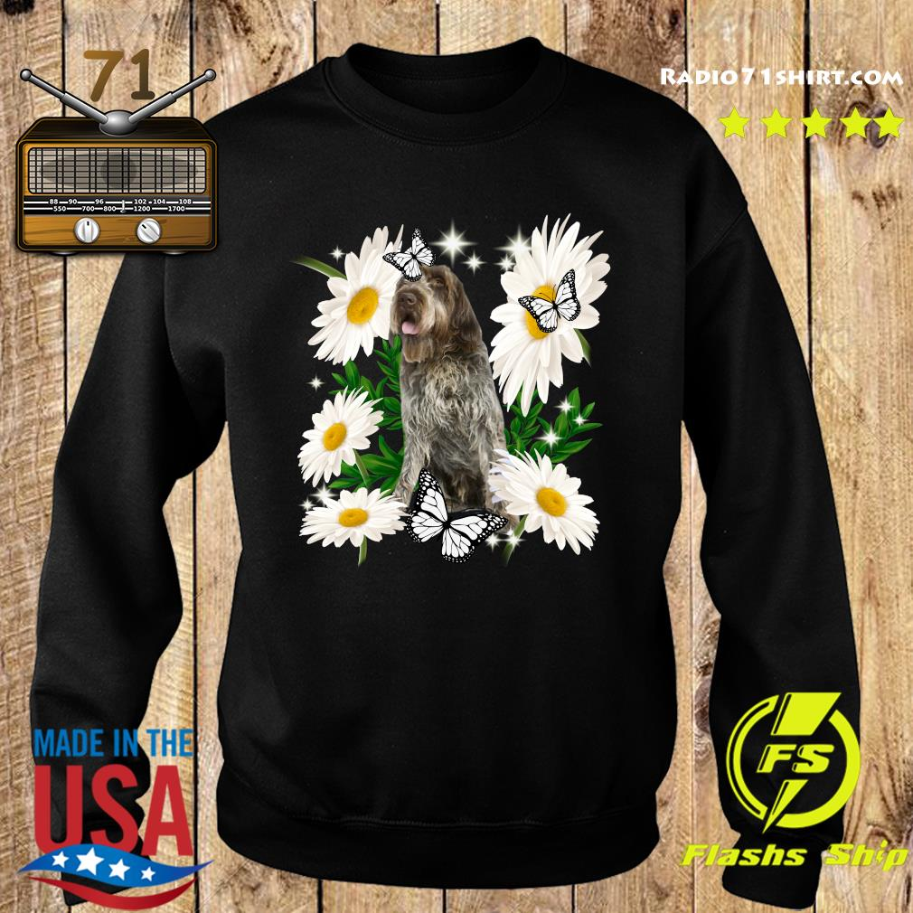 Wirehaired Pointing Griffon Daisy flower Classic T-Shirt Sweater