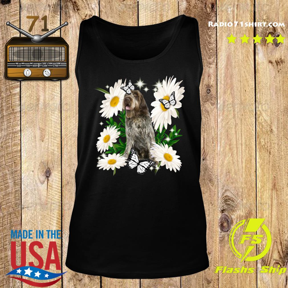 Wirehaired Pointing Griffon Daisy flower Classic T-Shirt Tank top