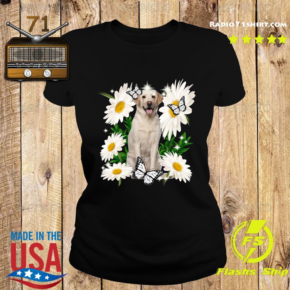 Yellow Labrador Daisy flower Classic T-Shirt Ladies tee