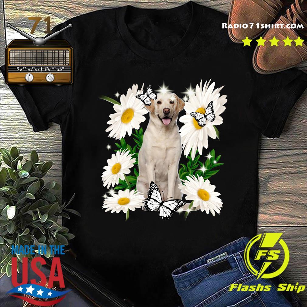 Yellow Labrador Daisy flower Classic T-Shirt