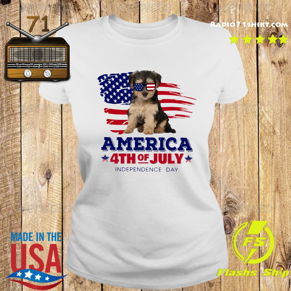 Yorkipoo America 4th Of July Independence Day Shirt Ladies tee