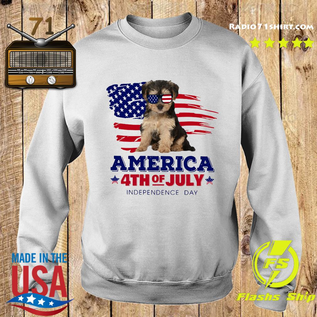 Yorkipoo America 4th Of July Independence Day Shirt Sweater