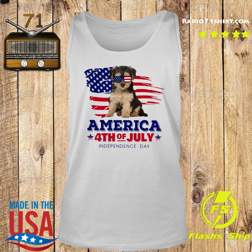 Yorkipoo America 4th Of July Independence Day Shirt Tank top