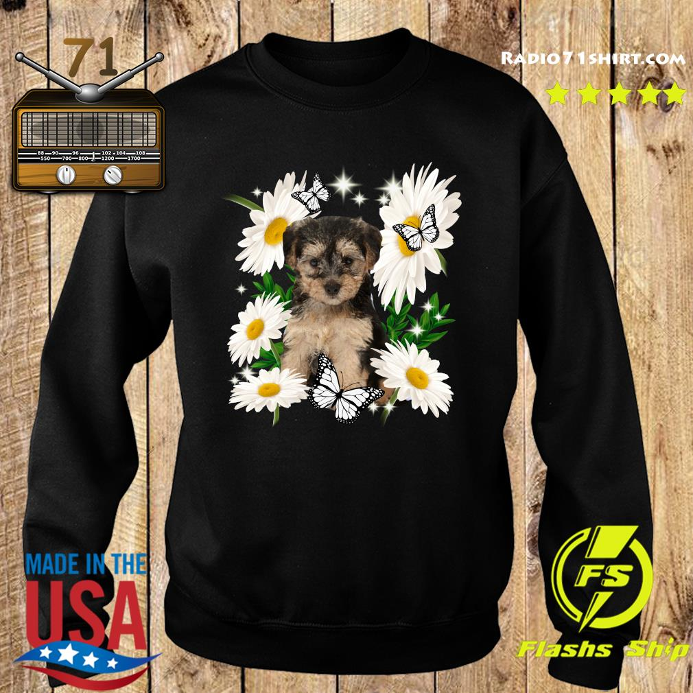 Yorkipoo Daisy flower Classic T-Shirt Sweater