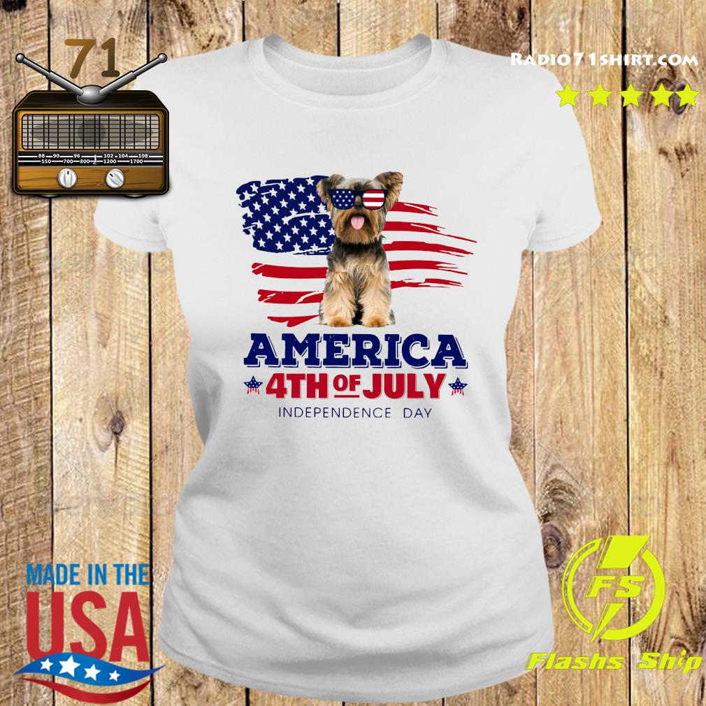 Yorkshire America 4th Of July Independence Day Shirt Ladies tee