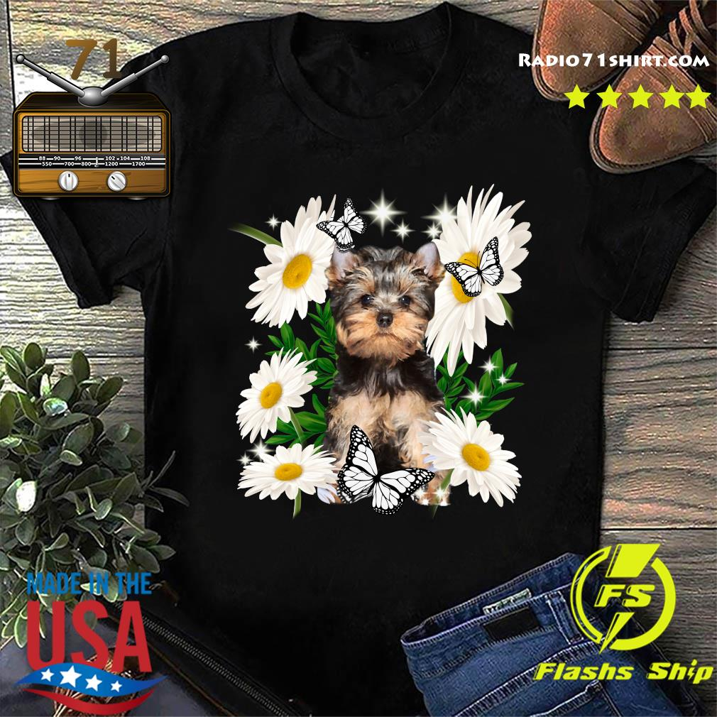 Yorkshire Terrier Daisy flower Classic T-Shirt