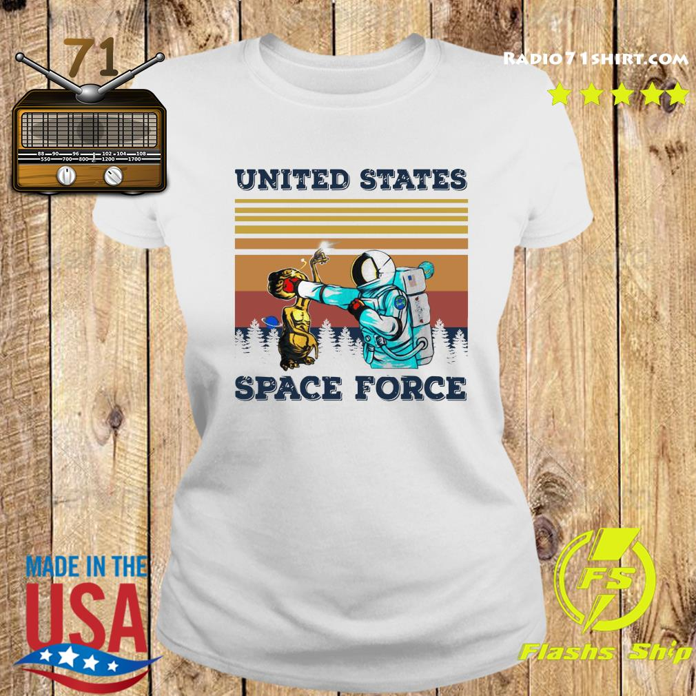 Astronaut Punch Alien In The Face United States Space Force Vintage Shirt Ladies tee