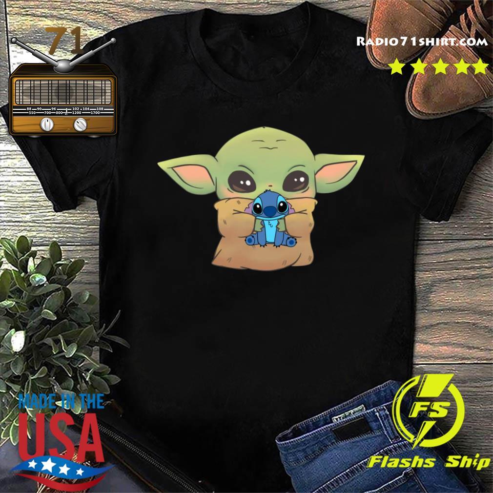 Disney Baby Yoda Hug Stitch Shirt