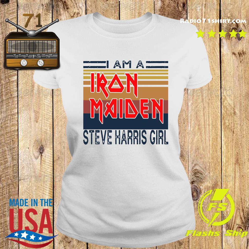 I Am A Iron Maiden Steve Harris Girl Vintage Retro Shirt Ladies tee