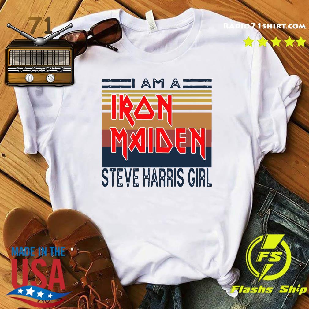 I Am A Iron Maiden Steve Harris Girl Vintage Retro Shirt