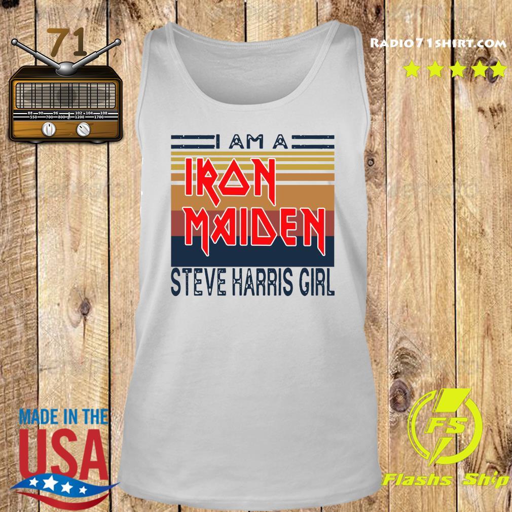 I Am A Iron Maiden Steve Harris Girl Vintage Retro Shirt Tank top