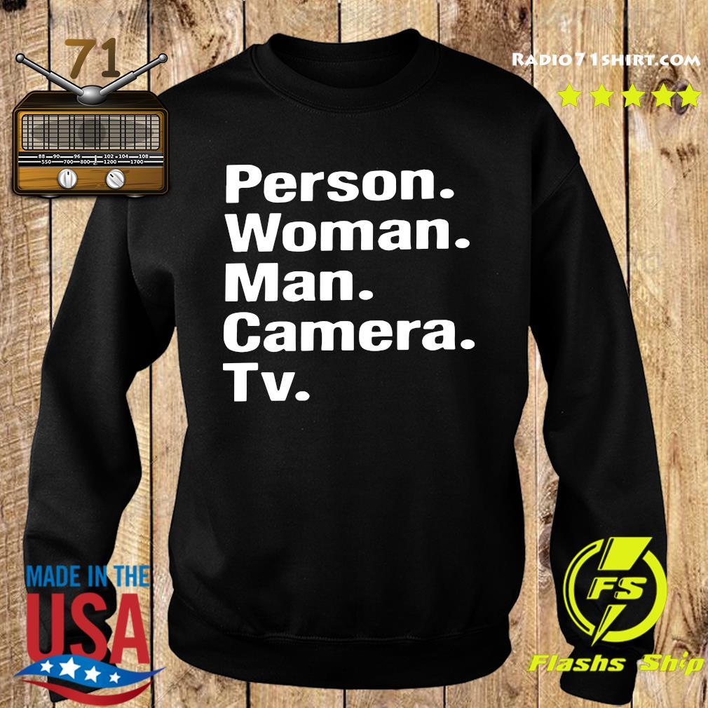 Person Woman Man Camera Tv Shirt Sweater