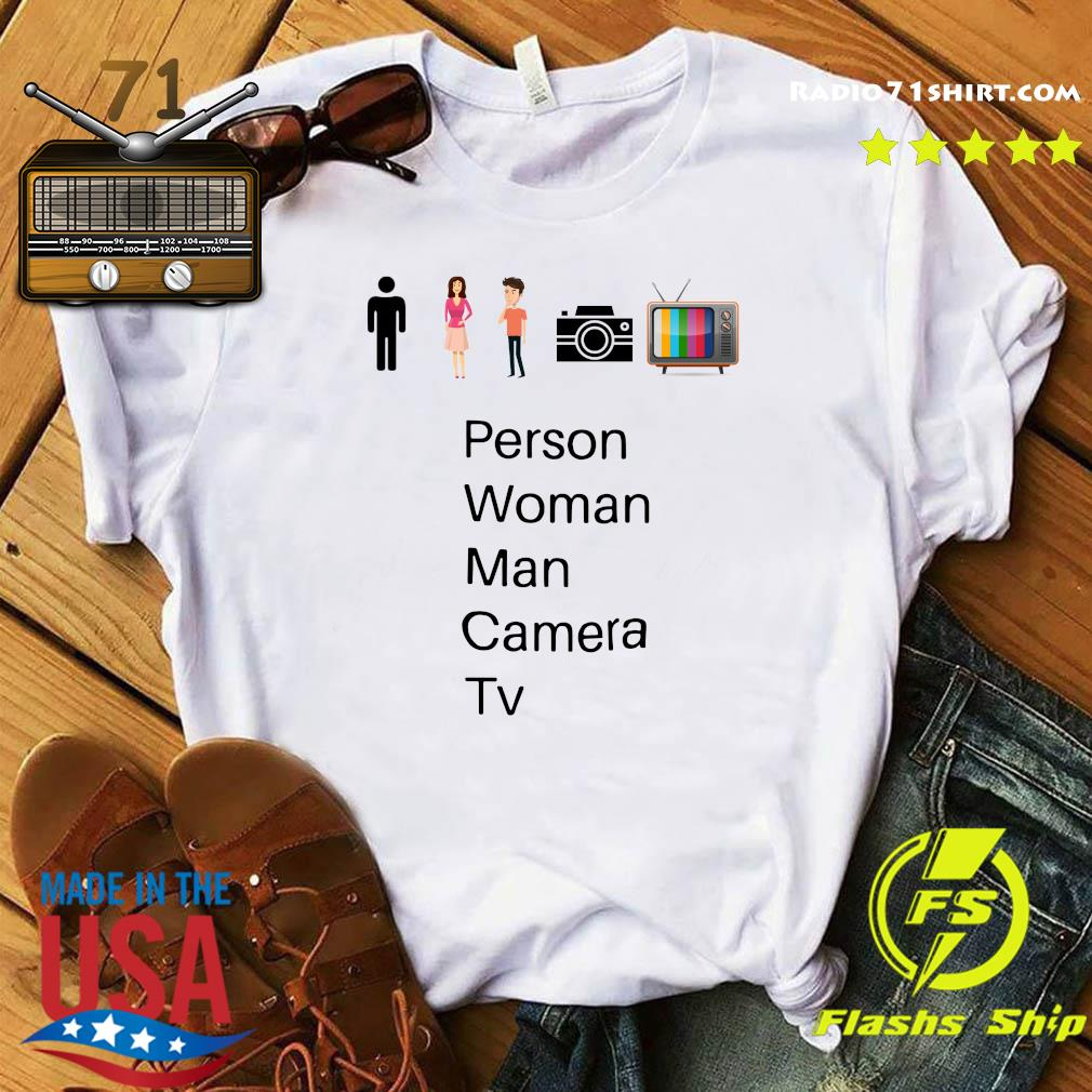 Person Woman Man Camera Tv Song Gift T-Shirt