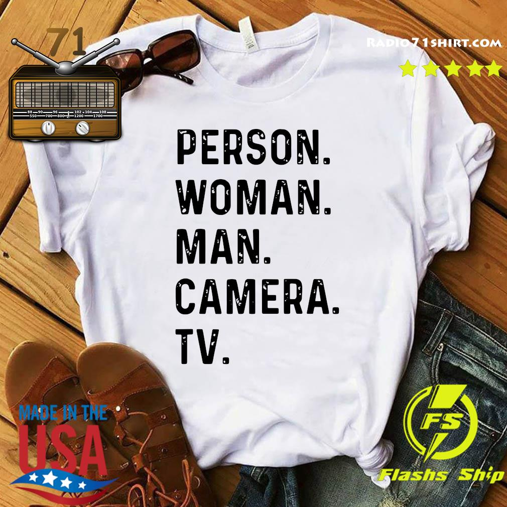 Person Woman Man Camera TV Trump Cognitive Test Short-Sleeve Unisex T-Shirt