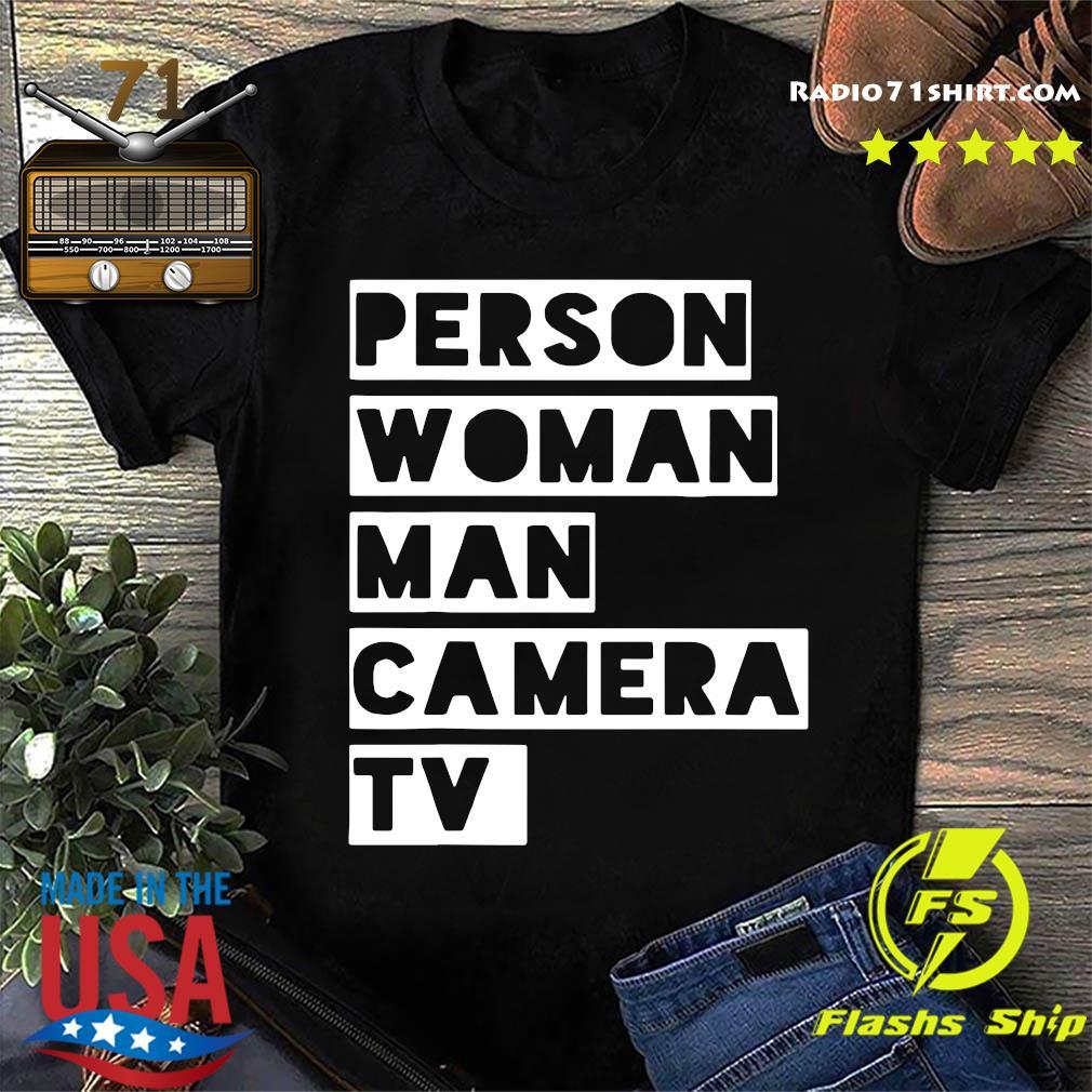 US Person Woman Man Camera TV T-Shirt