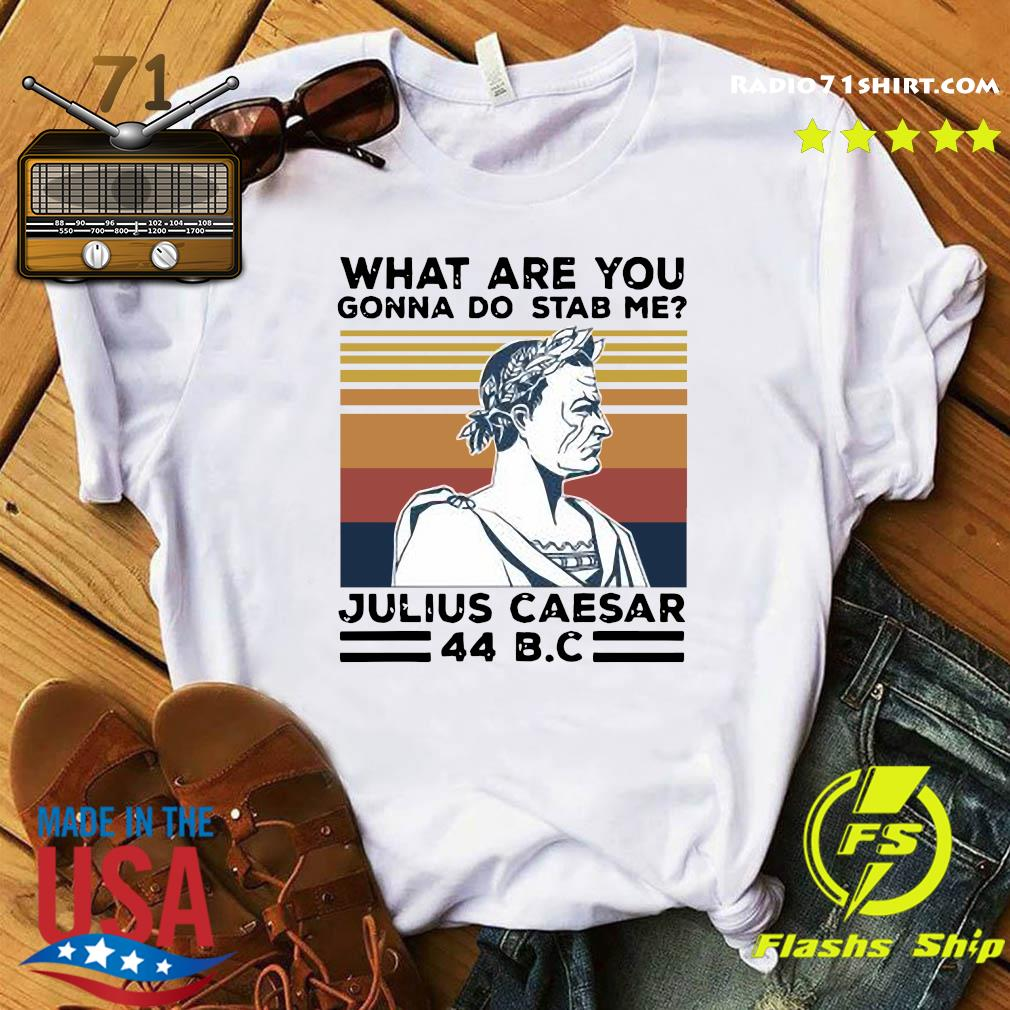 What Are You Gonna Do Stab Me Julius Caesar 44 Bc Vintage Shirt