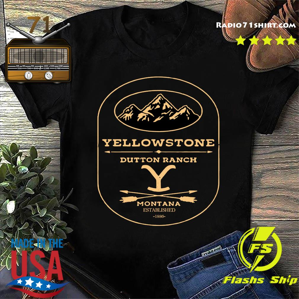 Yellowstone Dutton Ranch Montana Established 1886 Shirt