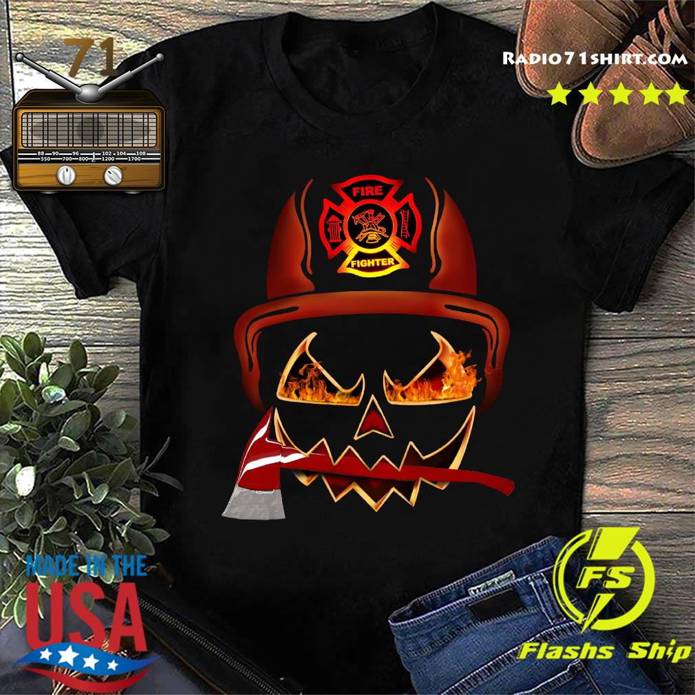 Firefighter Pumpkin Halloween Shirt