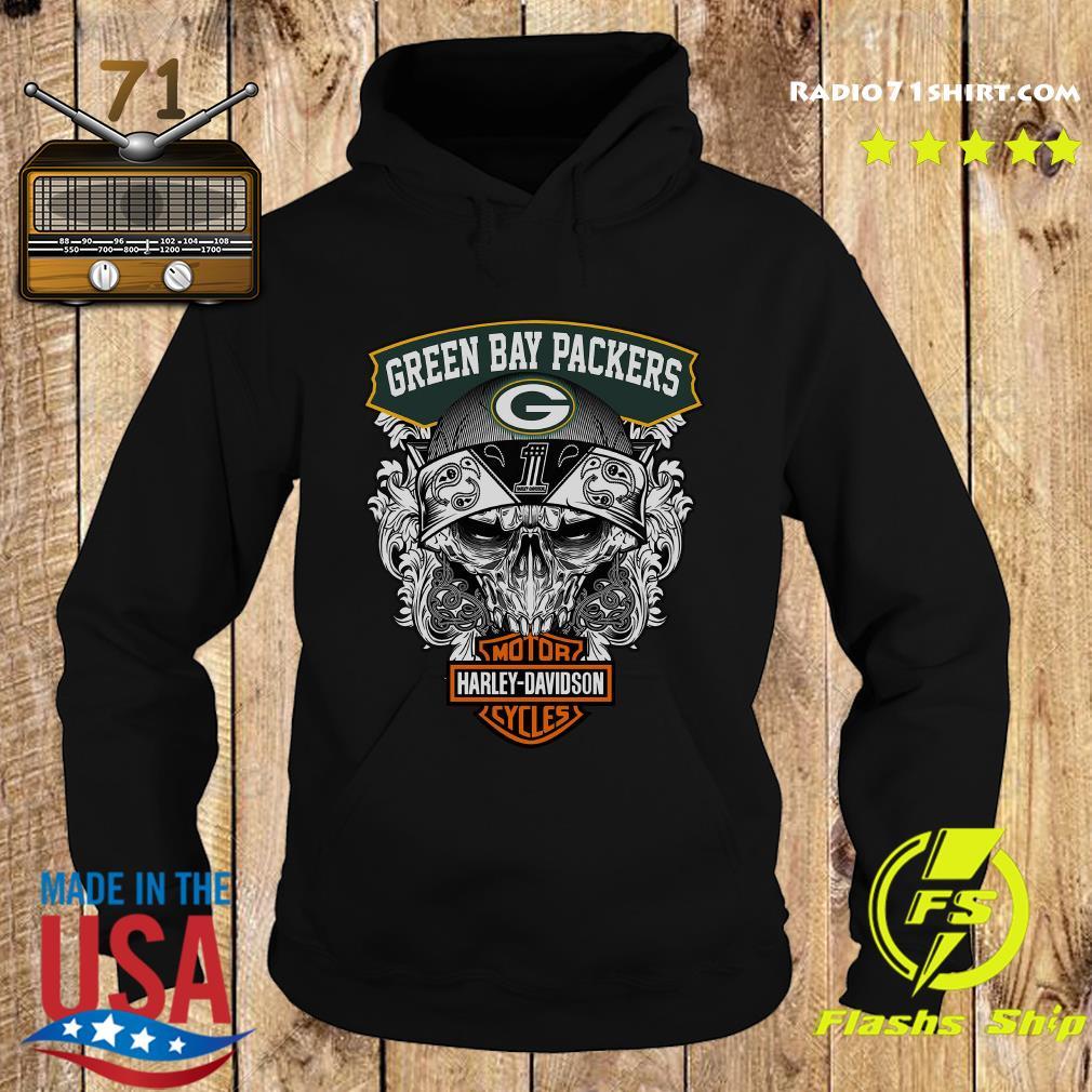 Green Bay Packers Harley Davidson Motor Cycles Shirt Hoodie