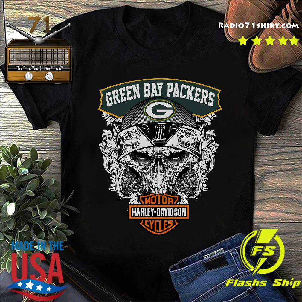 Green Bay Packers Harley Davidson Motor Cycles Shirt