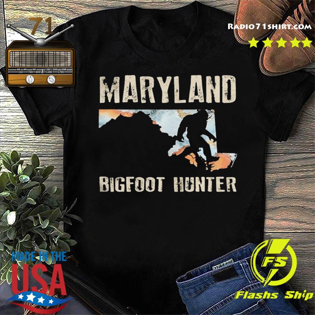 Maryland bigfoot hunter sunset shirt