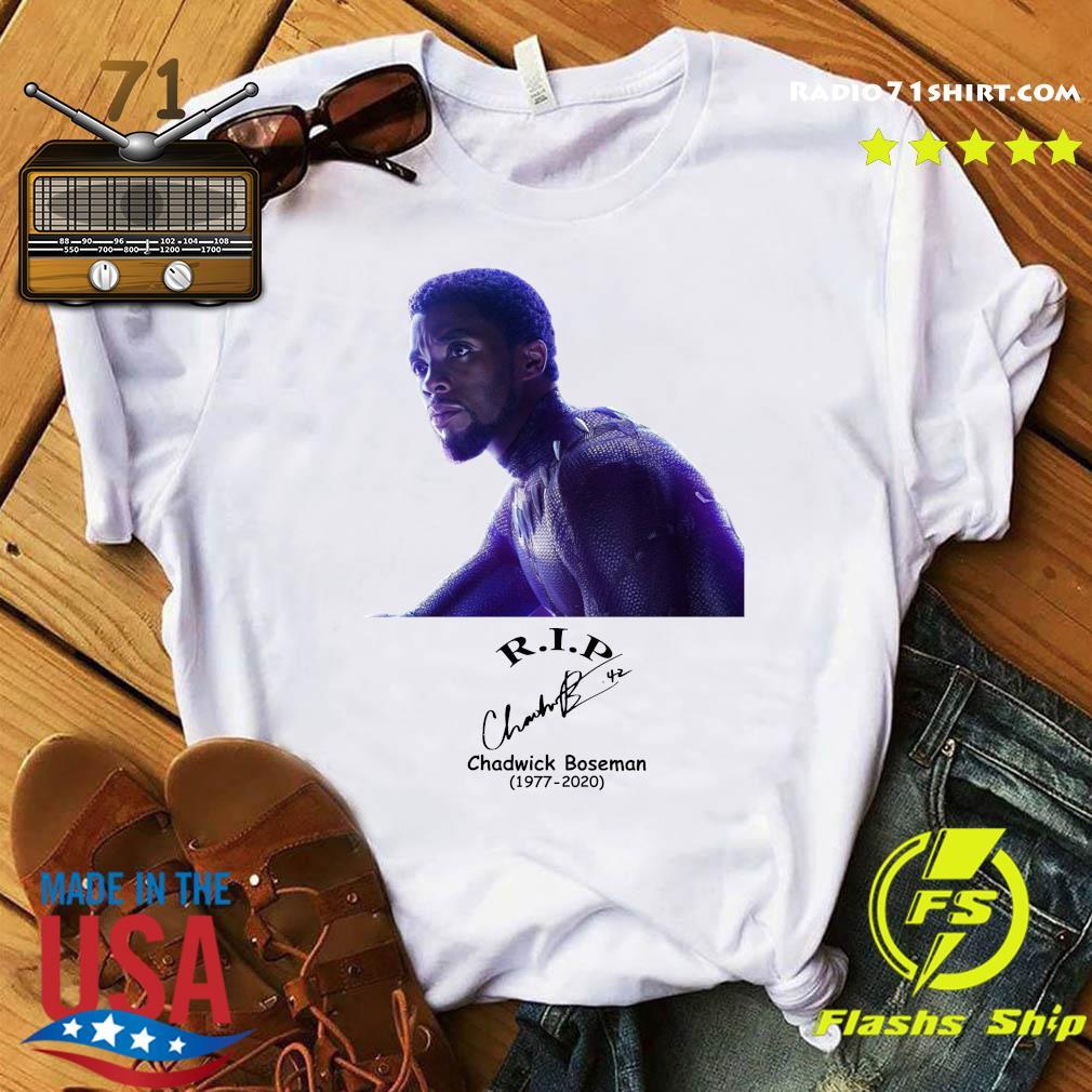 Official Rip Chadwick Boseman Black Panther 1977 2020 Signature Shirt