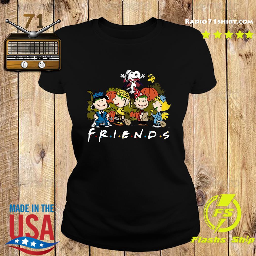 Peanut Snoopy and Charlie Brown friends halloween s Ladies tee