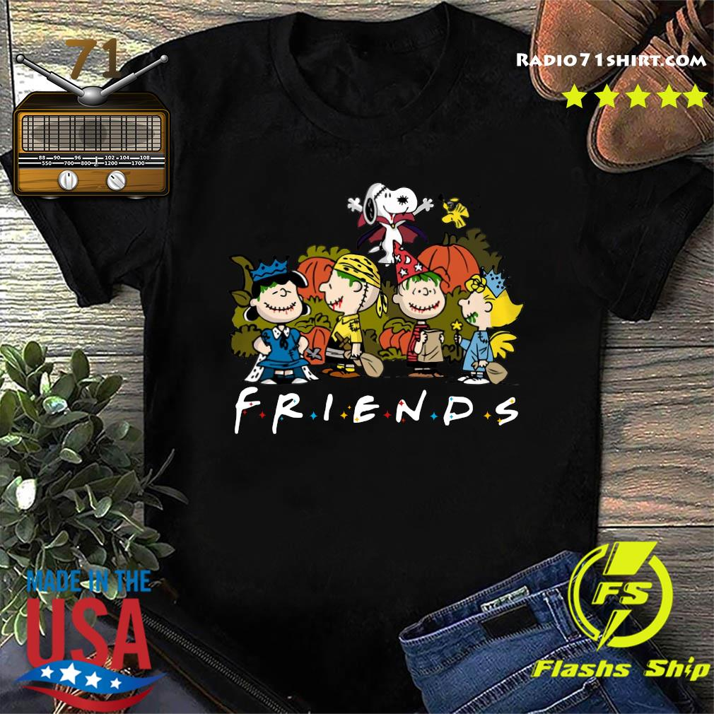 Peanut Snoopy and Charlie Brown friends halloween shirt
