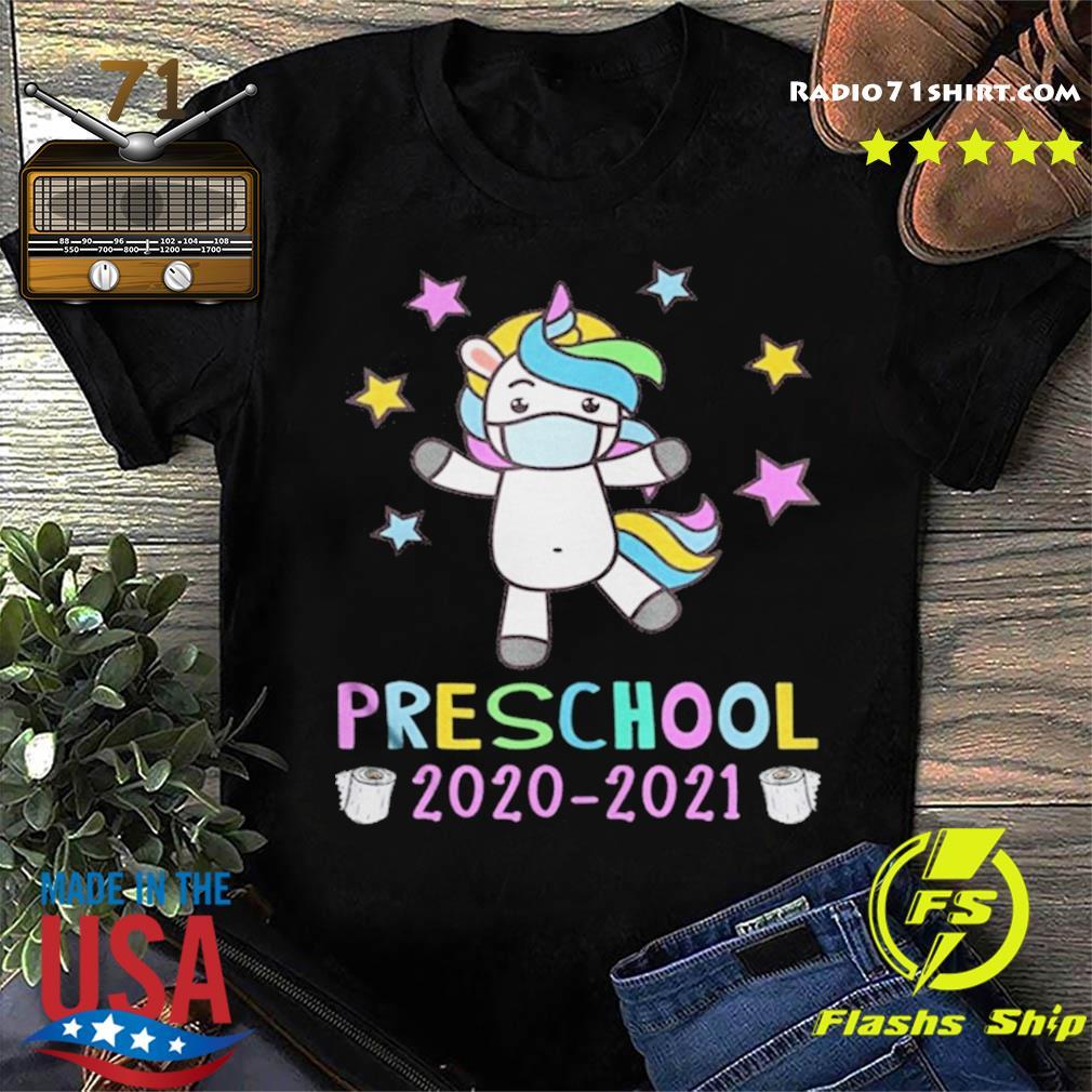 Quarantine Unicorn Hello Preschool 2020 Back To School shirt