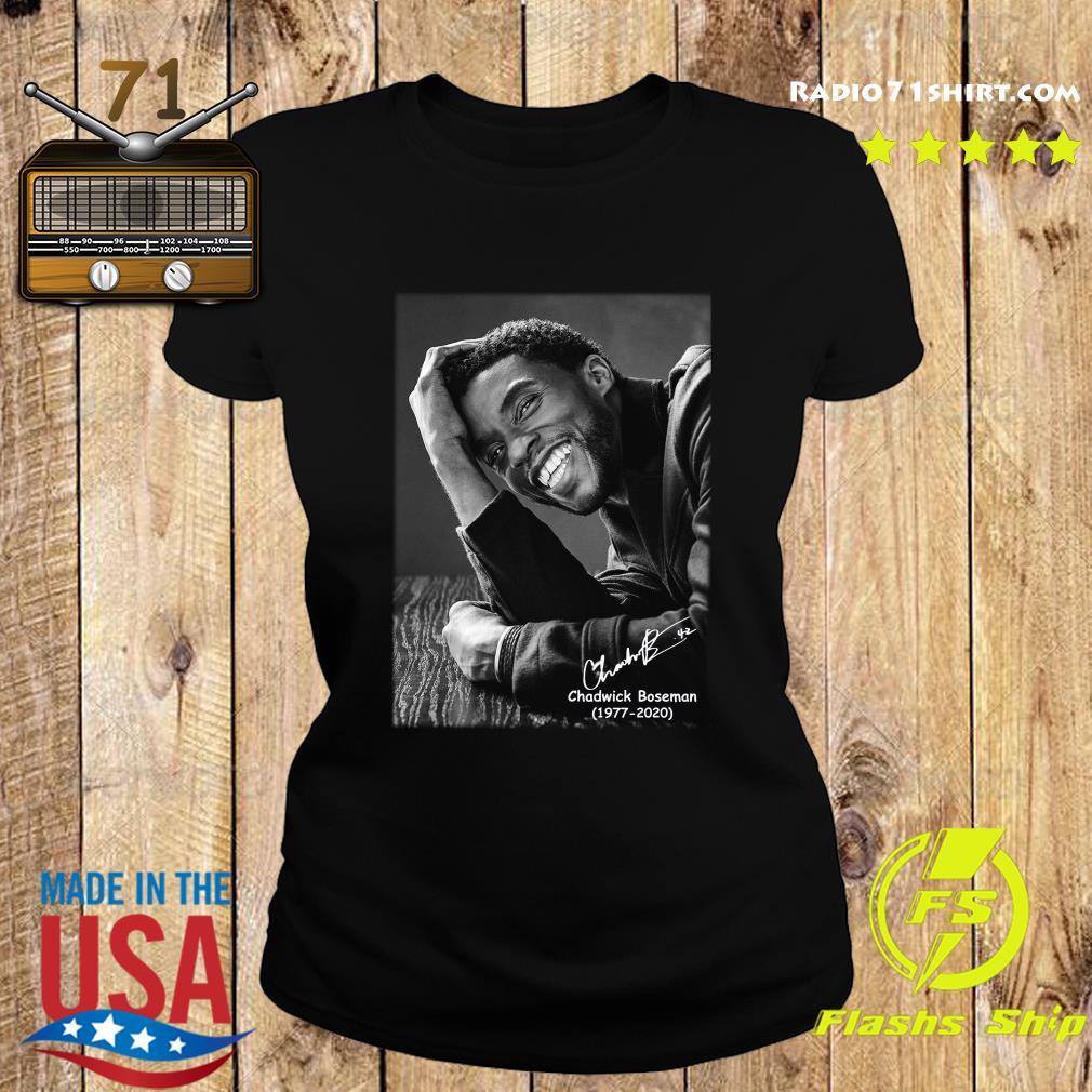 Rip Chadwick Boseman 1977 2020 Black Panther Signature Shirt Ladies tee