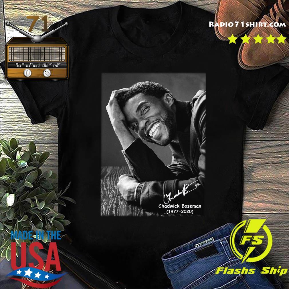 Rip Chadwick Boseman 1977 2020 Black Panther Signature Shirt