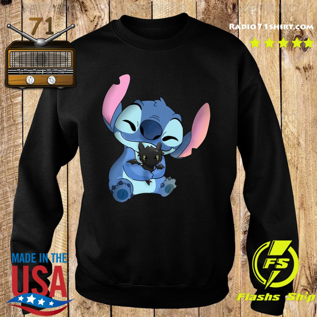 Stitch Hug Toothless Dragon Shirt Hoodie Sweater Long Sleeve And Tank Top