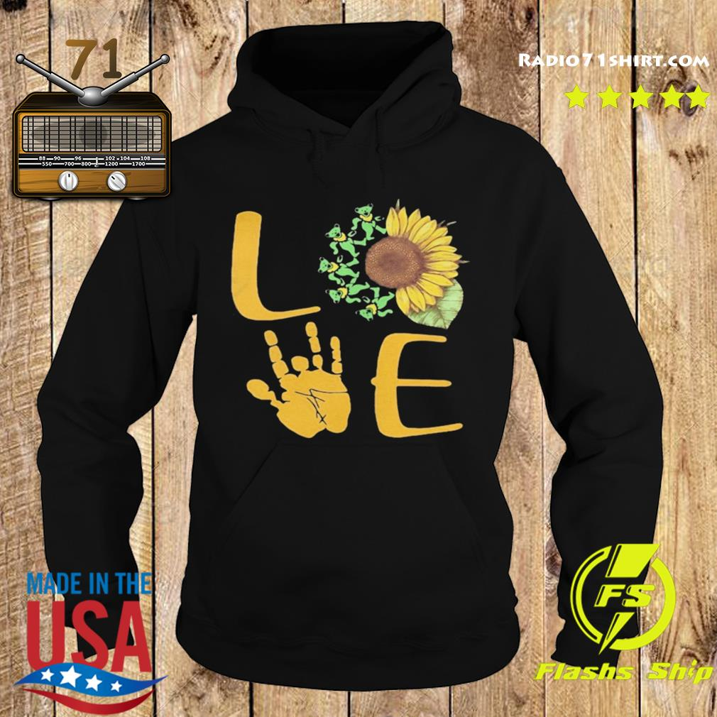 Sunflower Bear Skeleton Hand Love s Hoodie