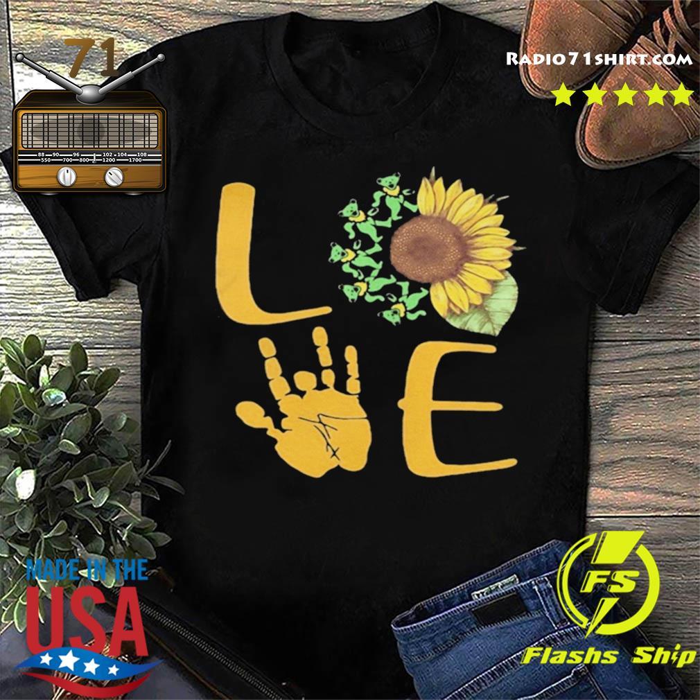 Sunflower Bear Skeleton Hand Love shirt