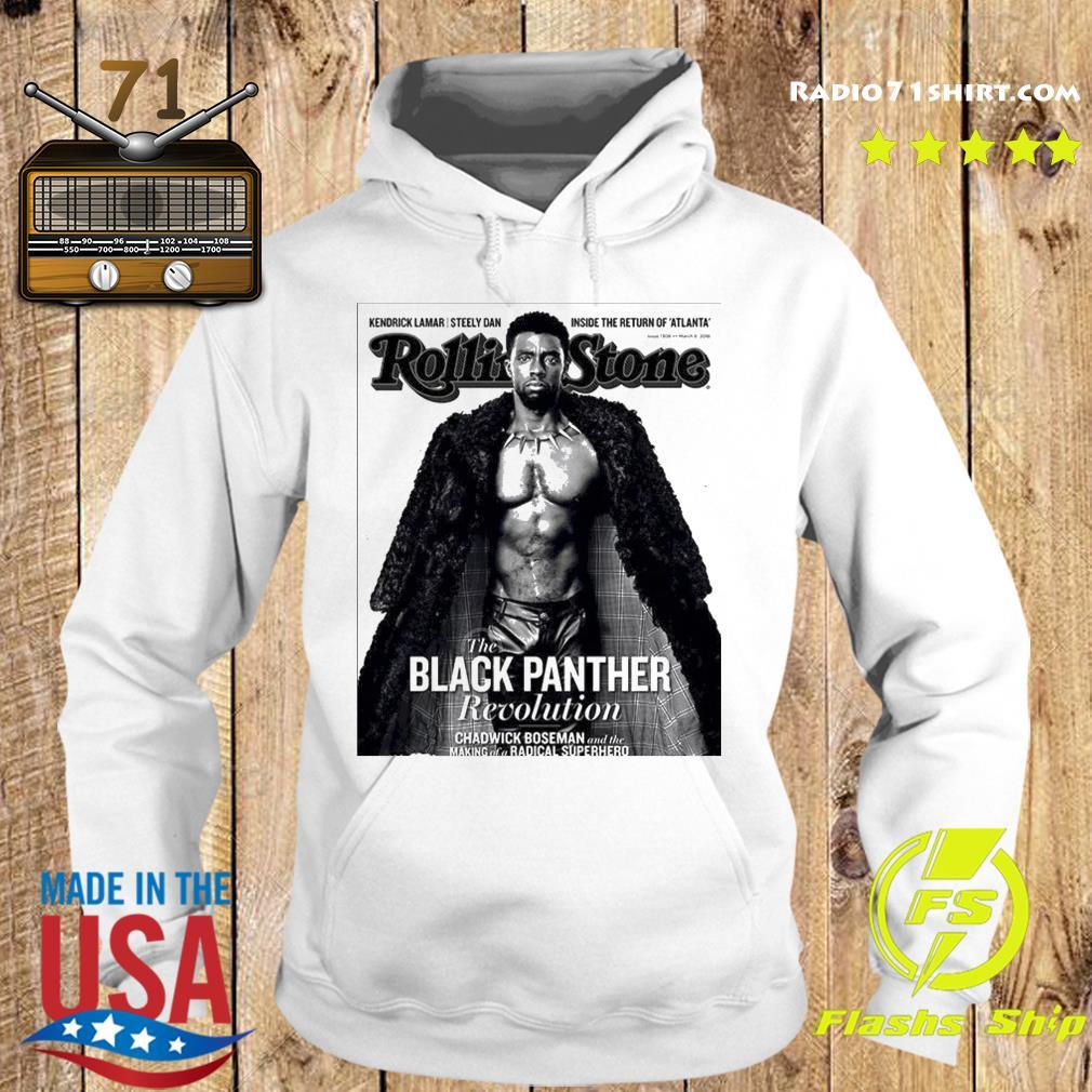 The Black Panther Chadwick Boseman Revolution Rolling Stone Superhero Shirt Hoodie