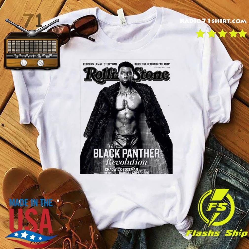 The Black Panther Chadwick Boseman Revolution Rolling Stone Superhero Shirt