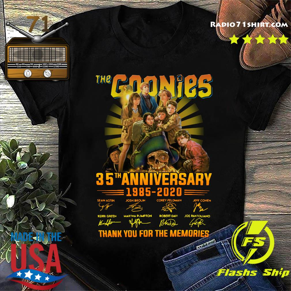 The Goonies Anniversary 1985 2020 Thank You For The Memories Signatures Shirt