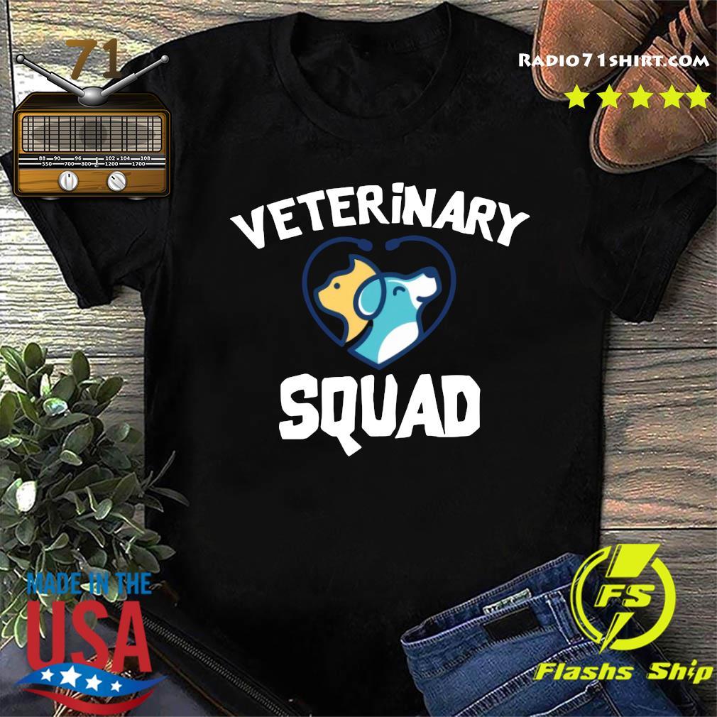 Veterinary Squad Heart Dog Shirt