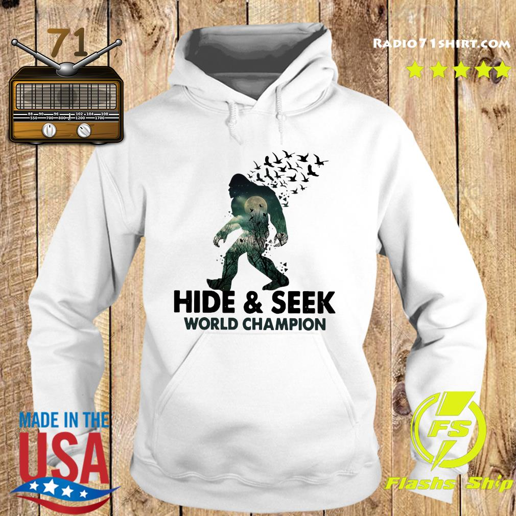 Bigfoot Hide And Seek World Champion Shirt Hoodie